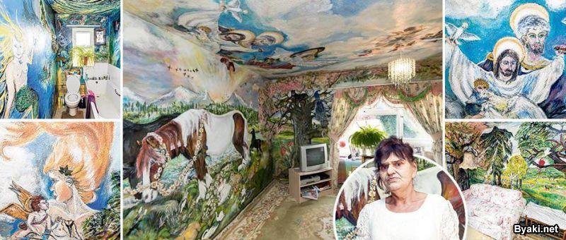 Женщина из Британии 35 лет превращает квартиру в мини-Сикстинскую капеллу