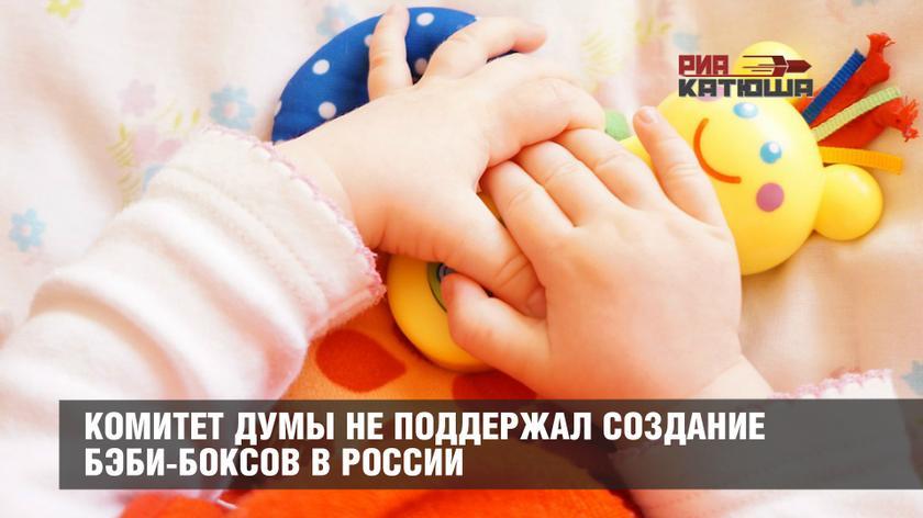КОМИТЕТ ДУМЫ НЕ ПОДДЕРЖАЛ СОЗДАНИЕ БЭБИ-БОКСОВ В РОССИИ