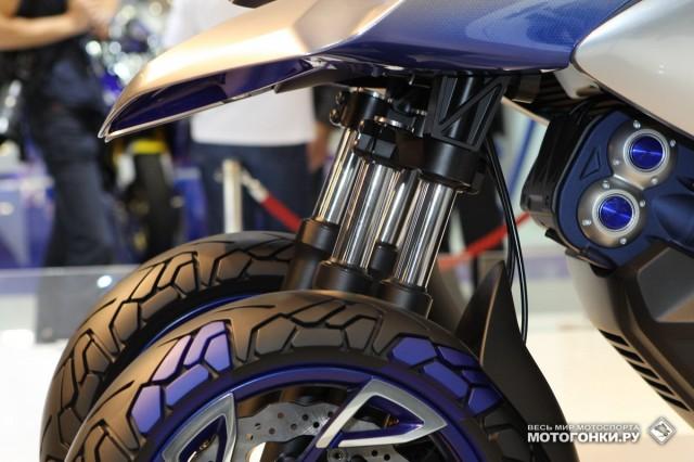 Yamaha 01GEN на INTERMOT-2014 - новый тип 3-колесного on- и off- crossover