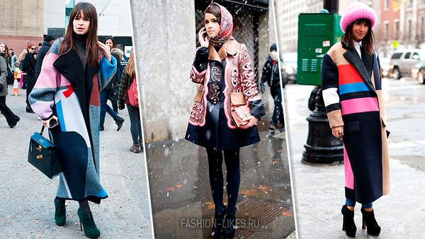 Как носить зимой пестрые пальто: 7 ярких примеров от Мирославы Думы