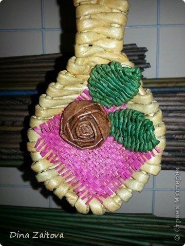 Плетение из газет. Декоративные ложки для украшения кухни (7) (360x480, 109Kb)