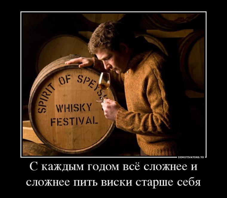 С каждым годом всё сложнее и сложнее пить виски старше себя