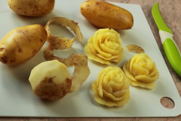 Как красиво украсить картофель