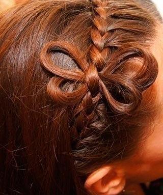 Коса-ободок с бабочкой