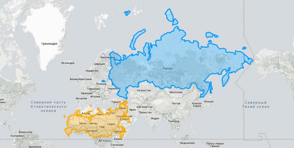 Эти карты позволят вам увидеть настоящие размеры стран мира
