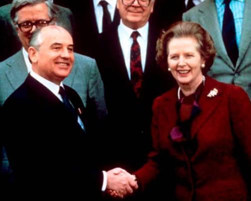 Горбачев и Тэтчер