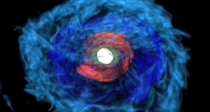 Ученые впервые наблюдали слияние двух нейтронных звёзд