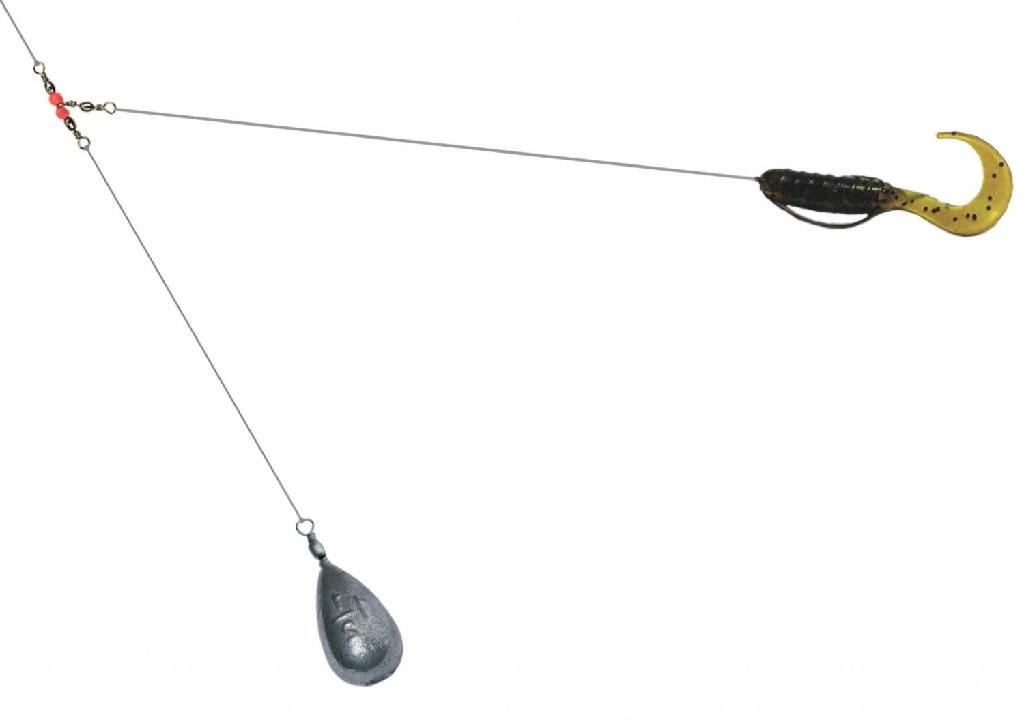 Техника проводки при ловле судака на отводной поводок