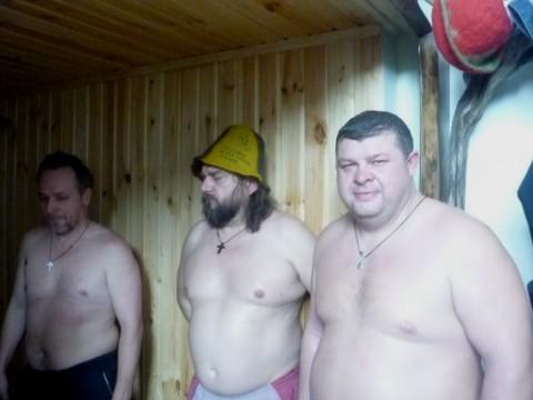 Атос, Партос и Арамис, однажды в баньку СобРались....