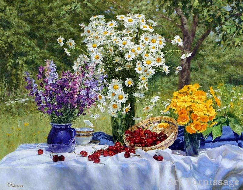 День так горел, день так сиял...наполненные жизнью и счастьем натюрморты Геннадия Кириченко