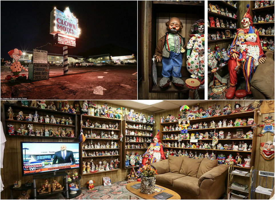 Мотель с жуткими клоунами и кладбищем по соседству в Неваде