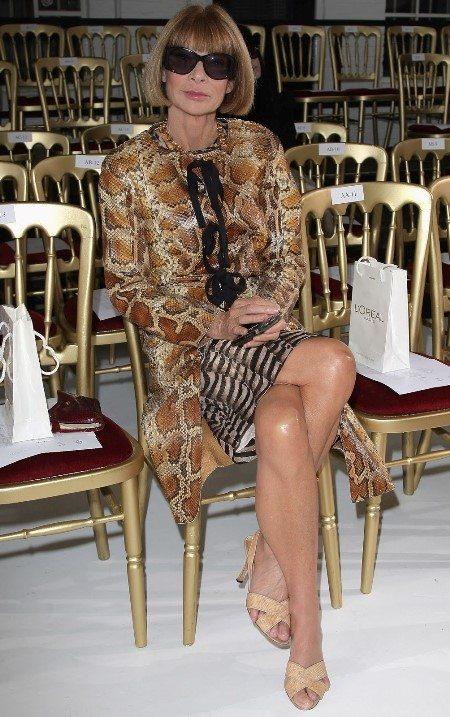 Анна Винтур носит босоножки от Manolo Blahnik буквально почти под всё