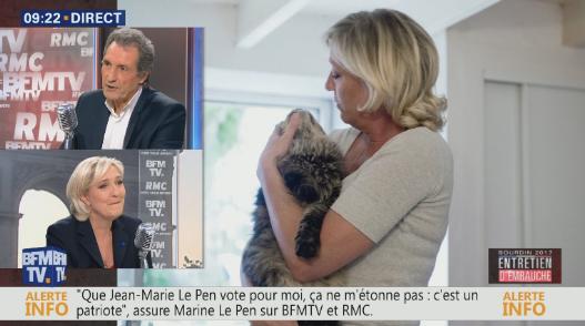 Ле Пен призналась в страсти к кошкам