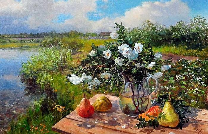 Собирается лето, собирается в путь... : Августовские натюрморты и пейзажи современных русских живописцев