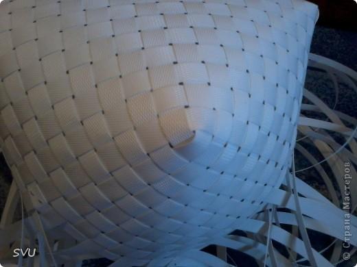 Мастер-класс Плетение Плетение корзинки из упаковочной полипропиленовой стреппинг ленты Полиэтилен фото 12