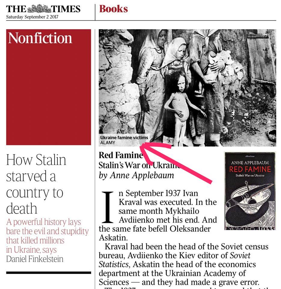 """В Англии вышла книга о голодоморе как """"войне Сталина против Украины"""" с фальшивками Вятровича"""