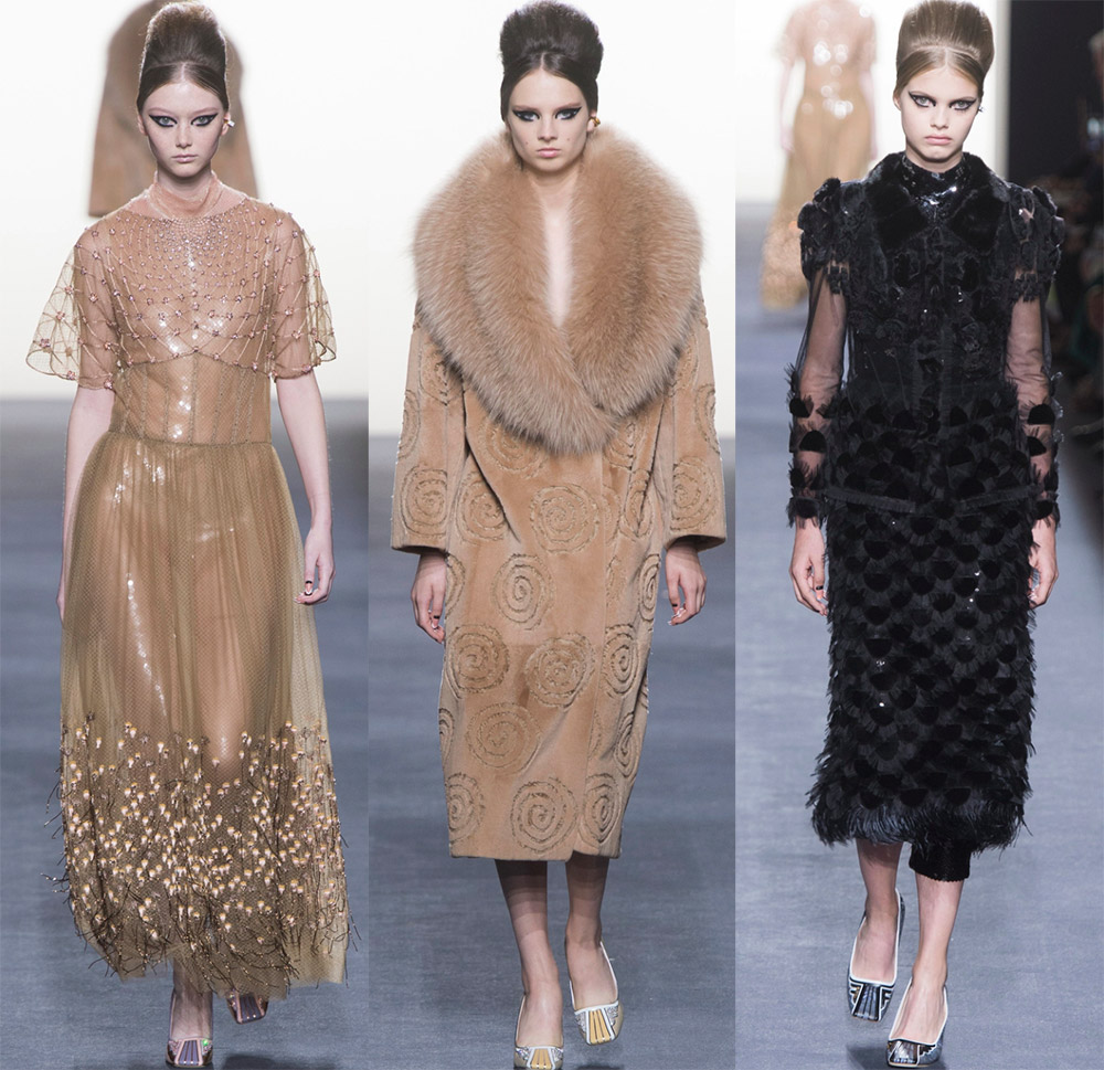 Fendi Haute couture осень-зима 2018-2019 — слияние роскоши и современных тенденций