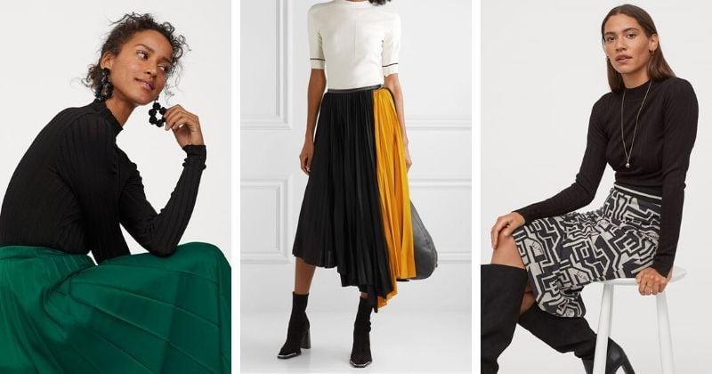 20 женственных, тёплых и стильных юбок на эту зиму