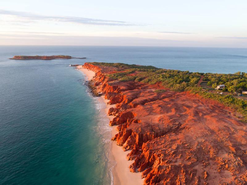 Мыс Левек залит зимним утренним солнцем австралия, где зимой рай, зима, красота, мягкий климат, пейзажи, тепло, фото