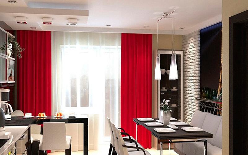 Шторы в интерьере кухни: подо что их надо подбирать и с чем сочетать, чтобы получить красивый и гармоничный интерьер