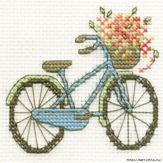 Вышиваем велосипед — идеи со схемами