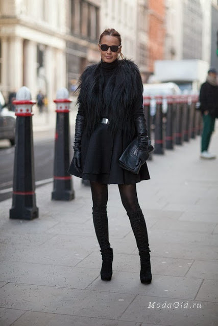 Уличный стиль: черный цвет