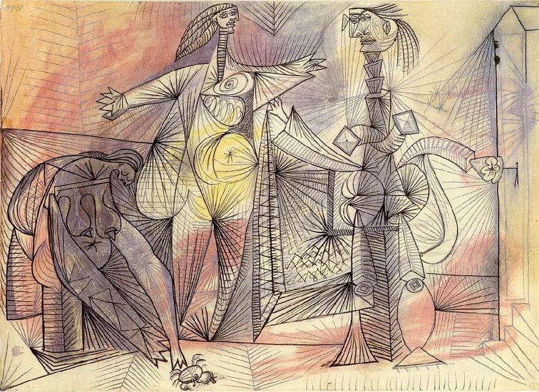 Пабло Пикассо. Купальщицы и краб. 1938 год