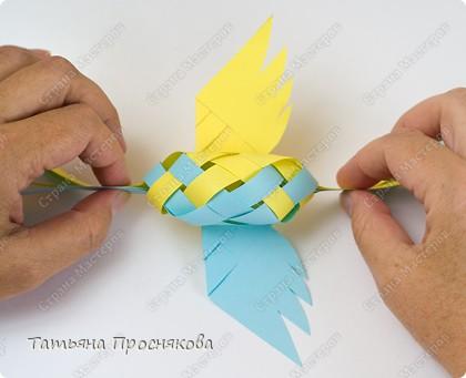 Мастер-класс Поделка изделие Плетение Плетёные птички Бумага фото 21