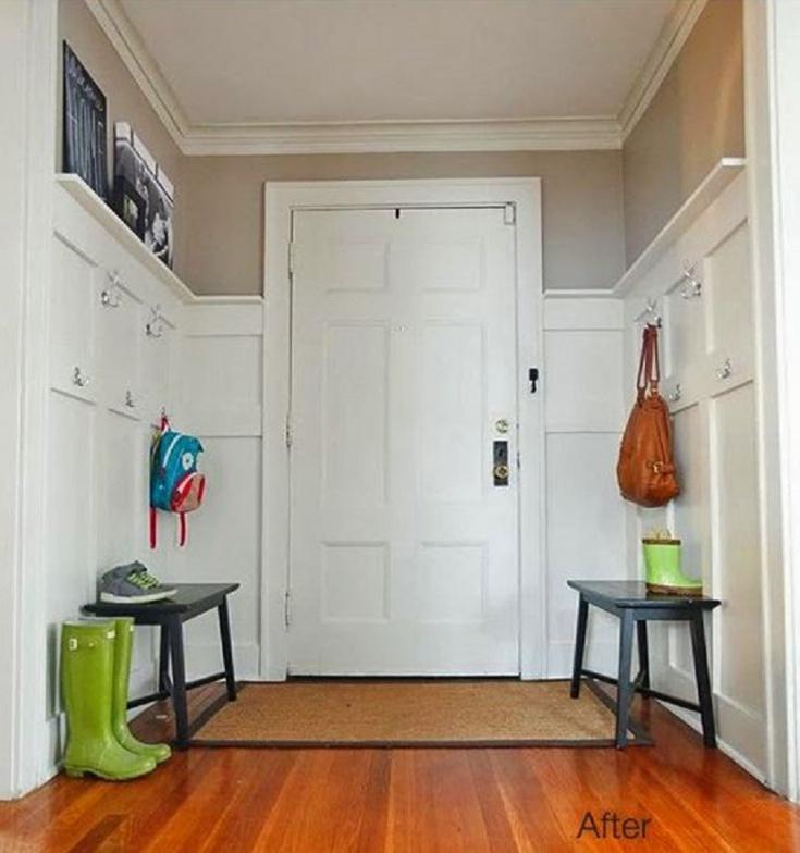 Простой и стильный коридор.