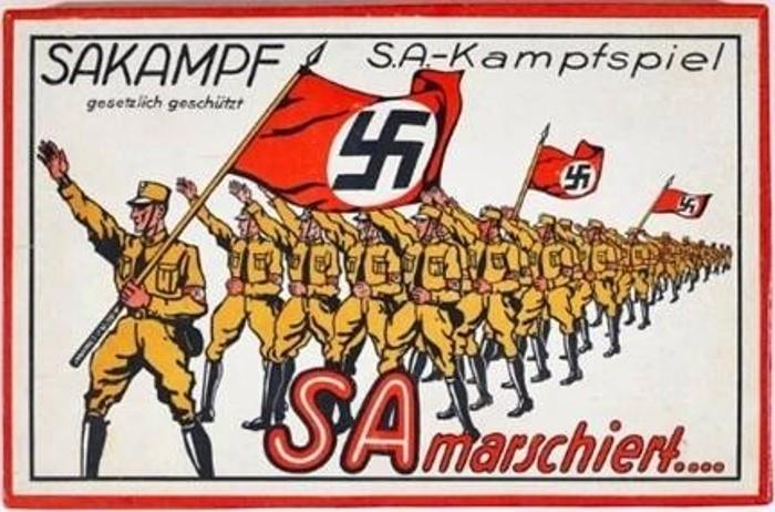 Коробка настольной игры 1933 года. германия, настольные игры, пропаганда