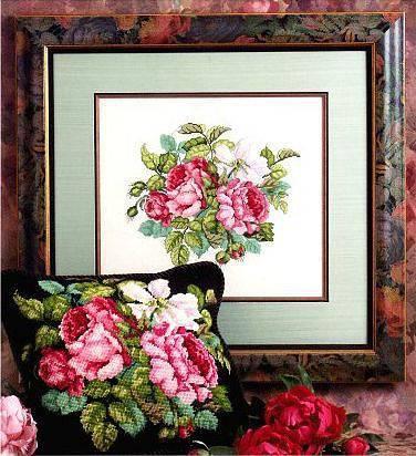 Схема для вышивки крестом чудесных роз
