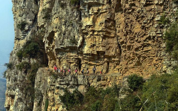 Путь луома китайских школьников.