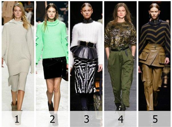 Женские свитеры: 5 модных моделей зимы