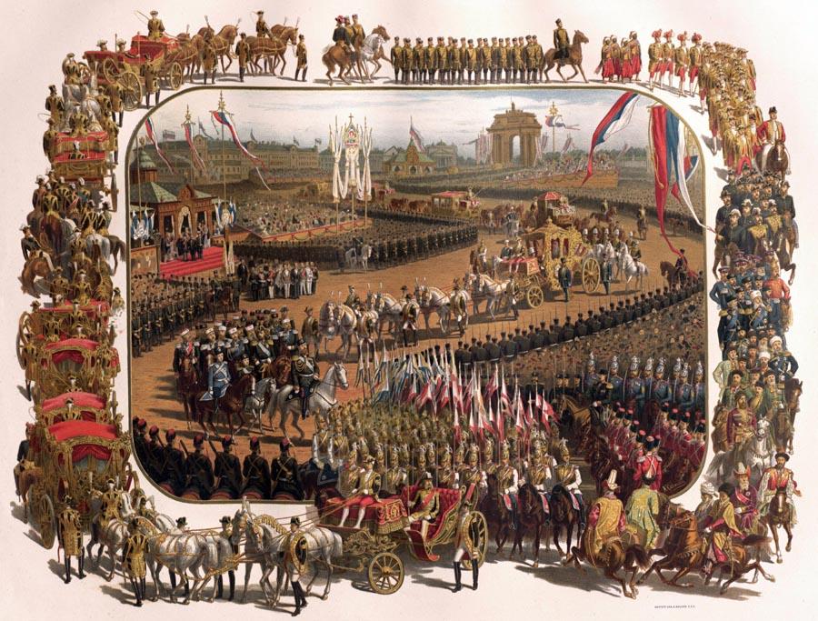 Оформление Москвы в дни коронации императора Александра III
