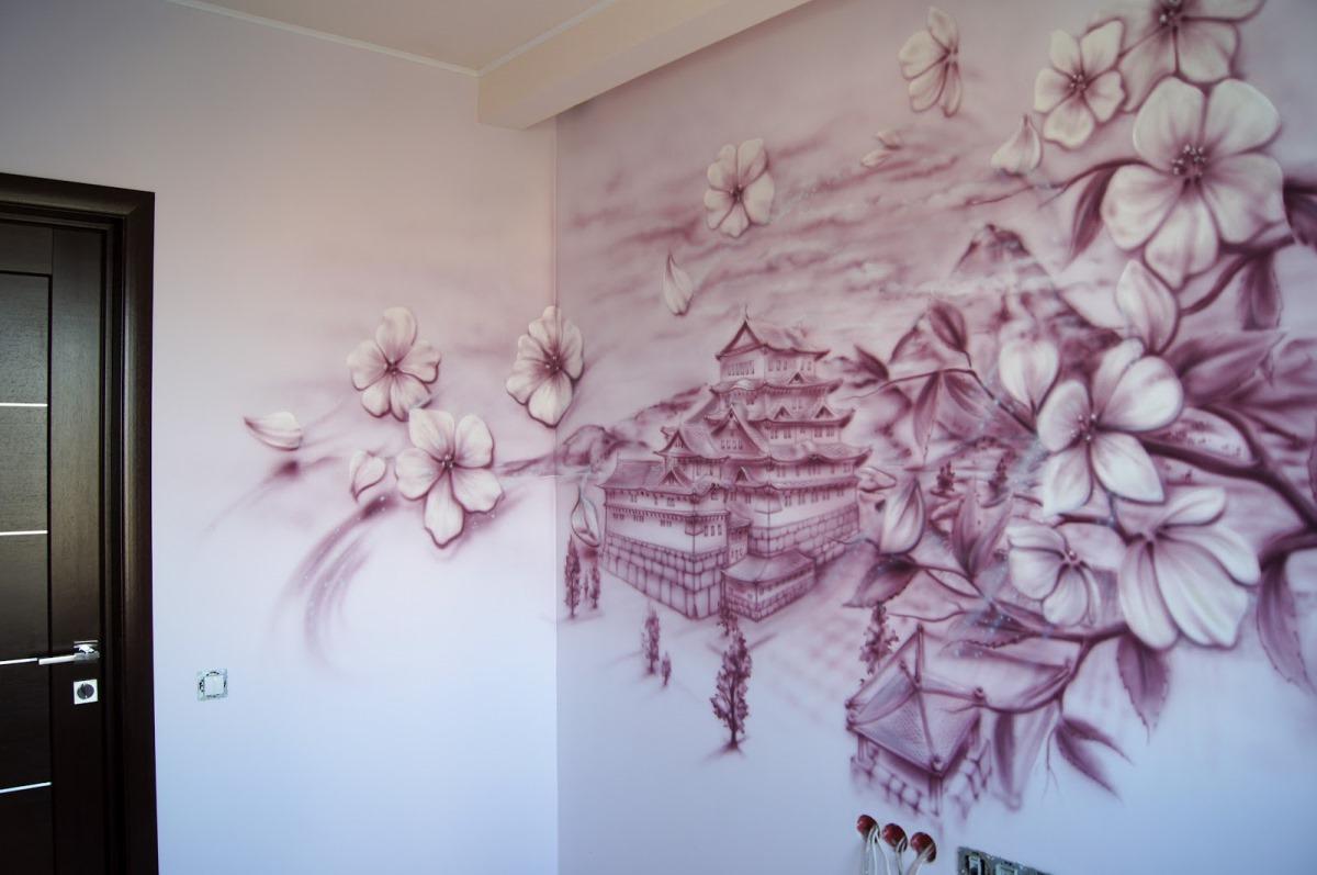 Разрисовка стен своими руками фото 98