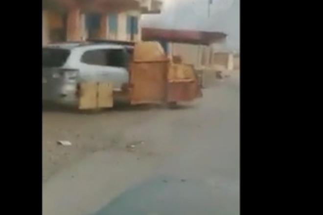 Шокирующие кадры атаки джихадмобиля на танк Abrams