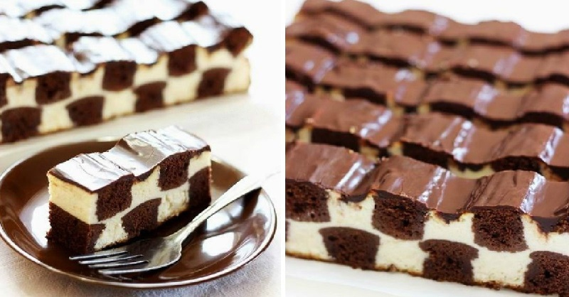Шахматный торт за 30 минут