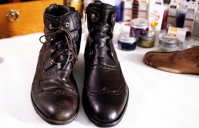 Уход за кожаной обувью зимой