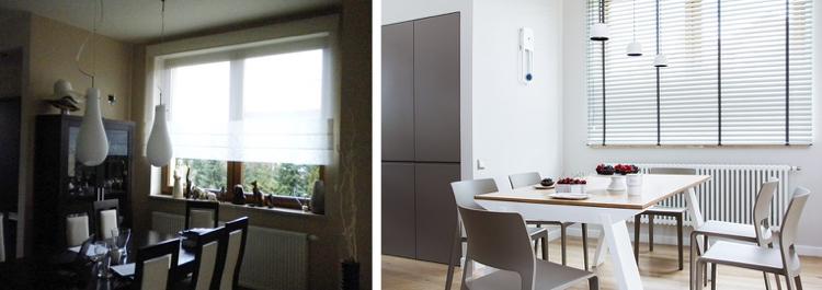 идея ремонта кухни до и после белая кухня минимализм столовая