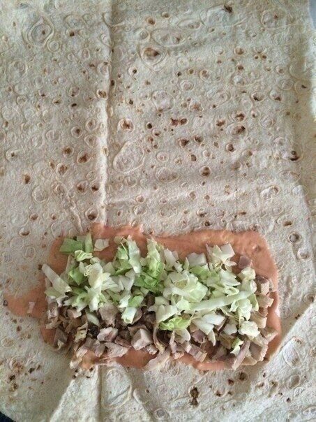 Домашняя шаурма (Homemade shawarma)