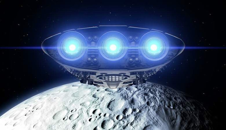 Неопознанный объект взлетает с Луны