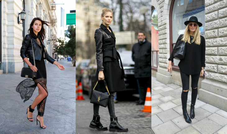 черный цвет по одежде