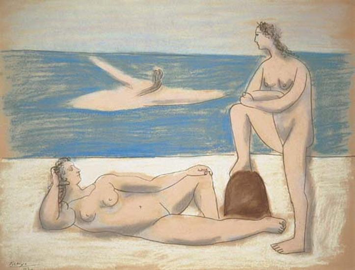 Пабло Пикассо. Три купальщицы 1. 1920 год