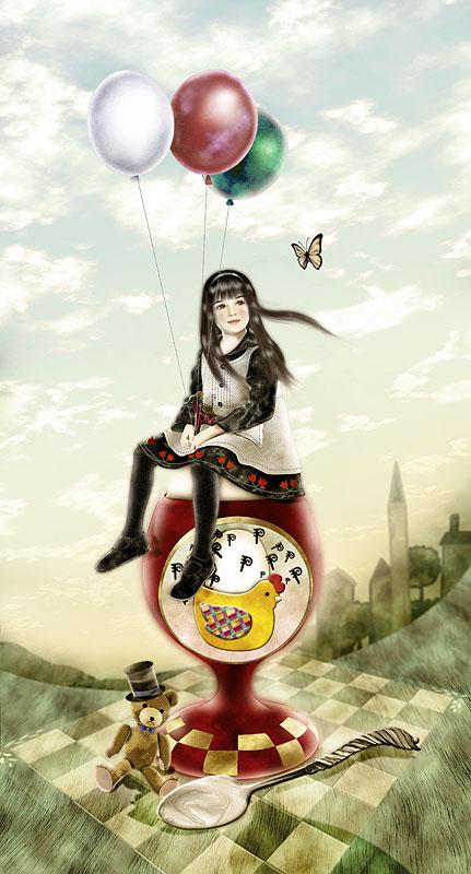 Фантазии японской художницы Yokota Miharu