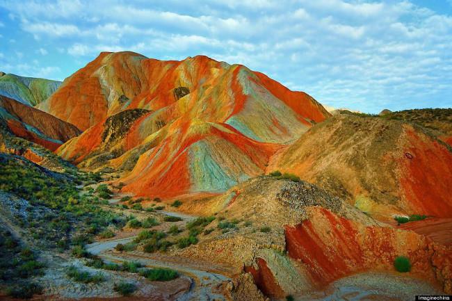Дневник Александра. - Rainbow mountains, China.--Радужные горы, Китай.