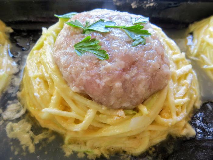 Гнезда из кабачка с фаршем еда, вкусно, кабачки с фаршем, рецепт, готовка, длиннопост, другая кухня, как приготовить, фарш, видео