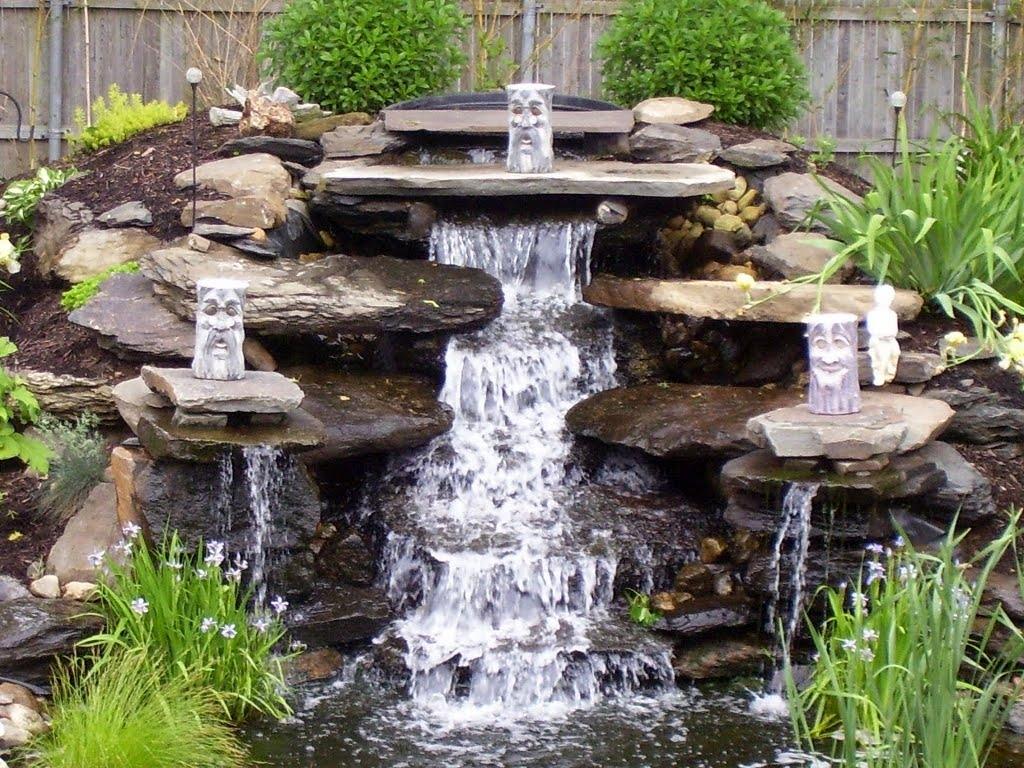 Водопады в саду своими руками фото