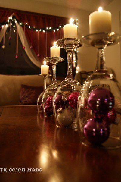 Простая и красивая идея новогоднего декора!