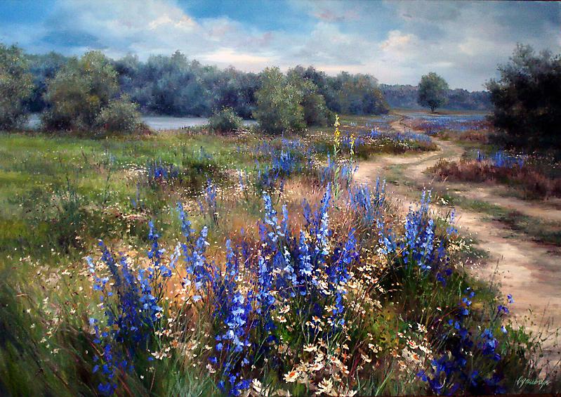 Живописное деревенское раздолье в прекрасных пейзажах кисти Ольги Одальчук