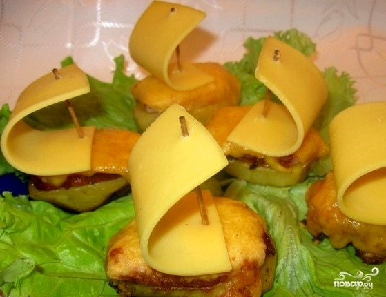 Лодочки из картофеля